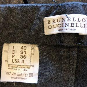 Brunello Cucinelli Skirts - Brunello Cucinelli Gray Cotton jersey skirt 40 S